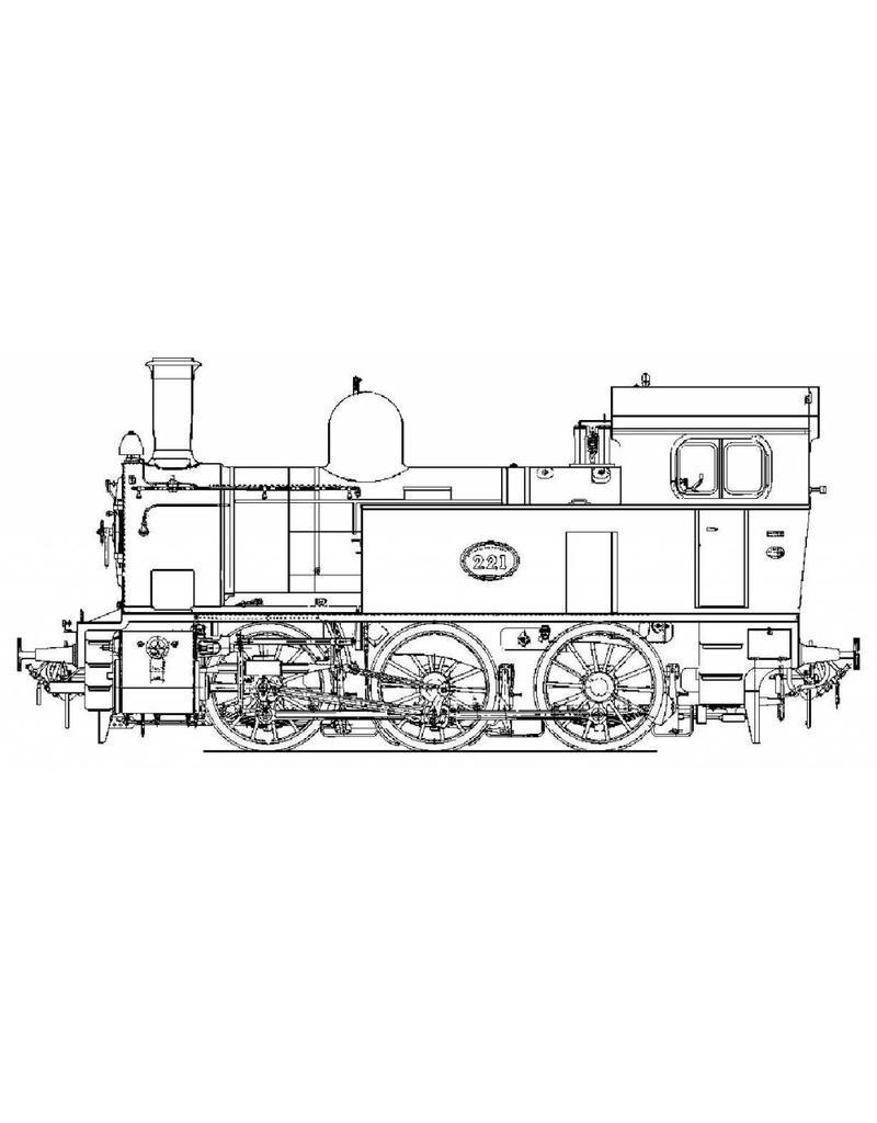 """NVM 20.20.035 C- tenderlocomotief NS serie 8500 (SS 221); voor spoor 5"""" (127 mm)"""