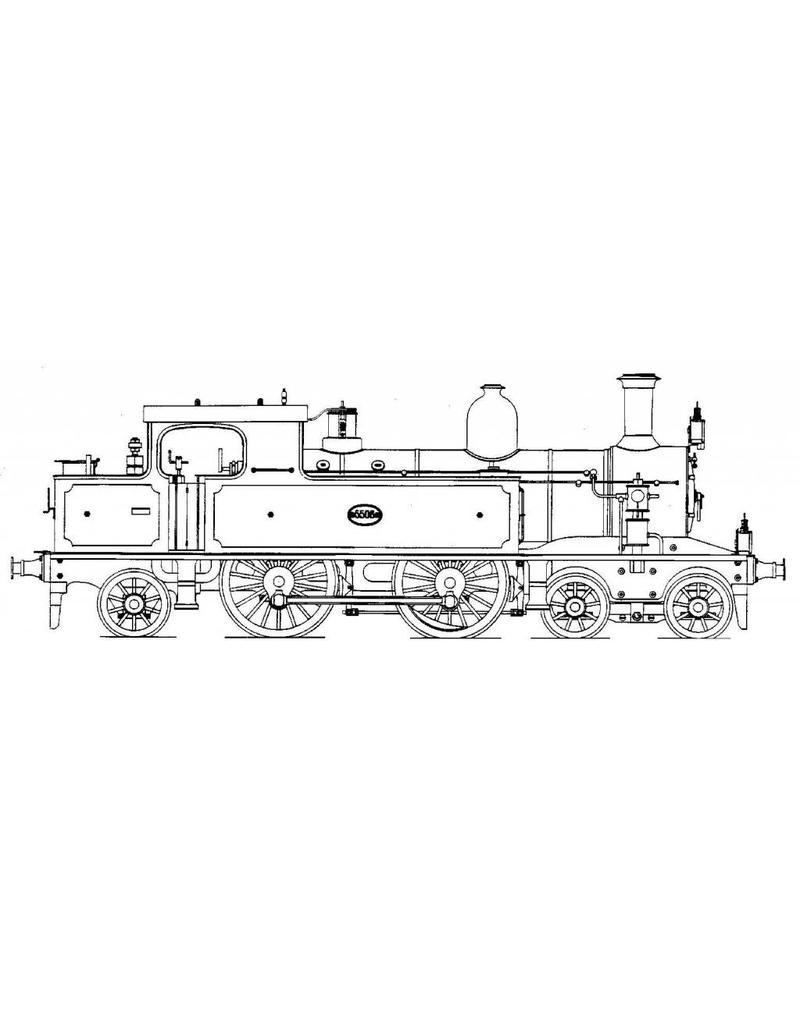 """NVM 20.20.039 2-B-1 tenderlocomotief NS 5500 - (""""Kop en kontje""""); voor spoor 2 (58 mm)"""