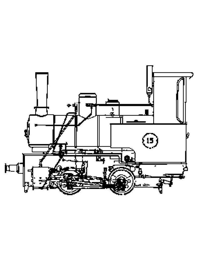 """NVM 20.20.040 smalspoor B locomotief """"Nr.15""""; voor spoor 7,25"""" (189 mm)"""