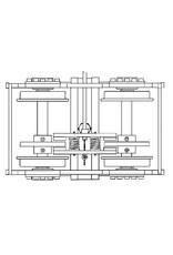 """NVM 20.25.002 beremd passagierskarretje voor spoor 3,5"""" (89 mm)"""