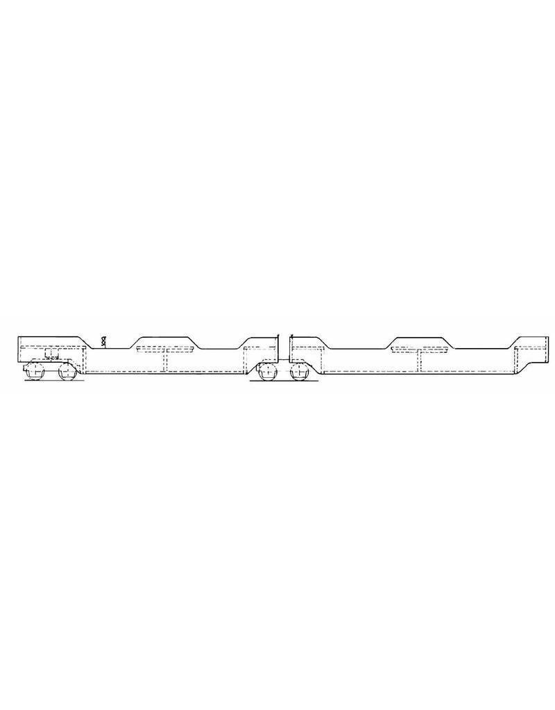 """NVM 20.25.004 3-delige passagierswagons voor 7,25"""" spoor (184 mm)"""