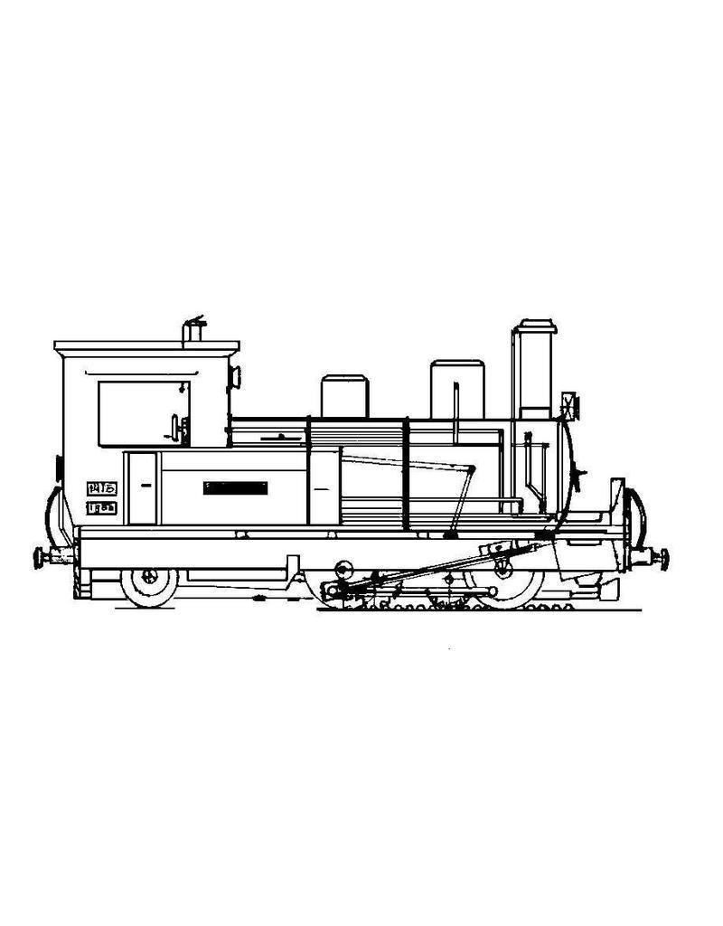 NVM 20.30.004 SLM tandrad tenderlocomotief 2/3-6 voor H0