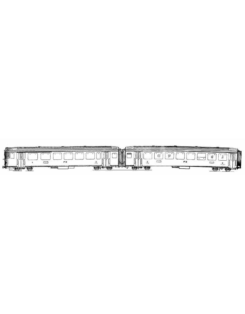 NVM 20.33.005 4 wagen stel DER 4/4 51-54 Furka-Oberalpbahn voor spoor H0
