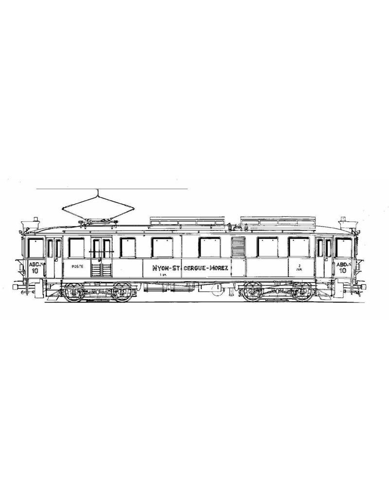 NVM 20.33.008 motorwagen ABDe 4/4 10-11 Nyon-St Cergue-Morez