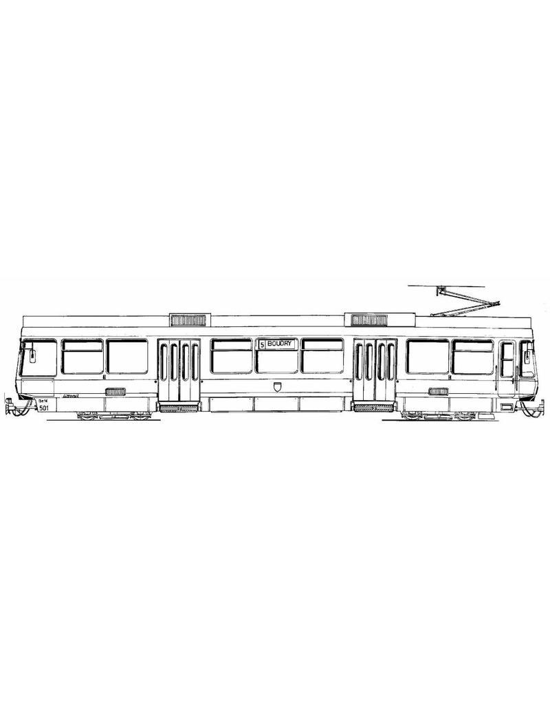 NVM 20.33.009 tram 2000 Neuch?el-Forchbahn TN.BE 501-4, BT 551-4, FB.BE 21-22,