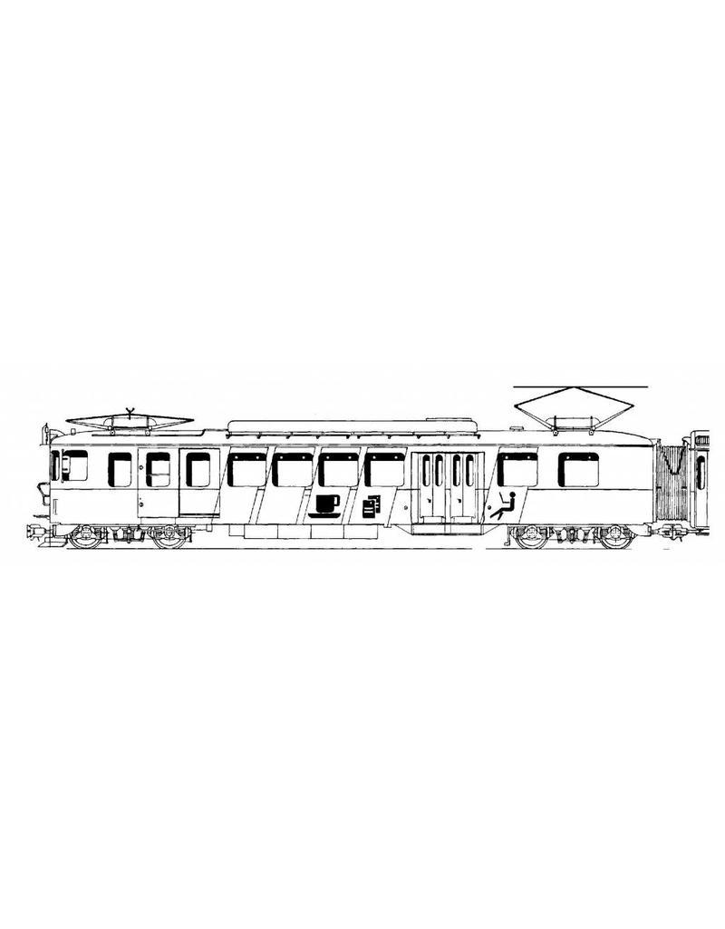 NVM 20.33.010 2-wagen treinstel BDr 317 met bar-rijtuig RV Bern - Solothurn voor spoor H0