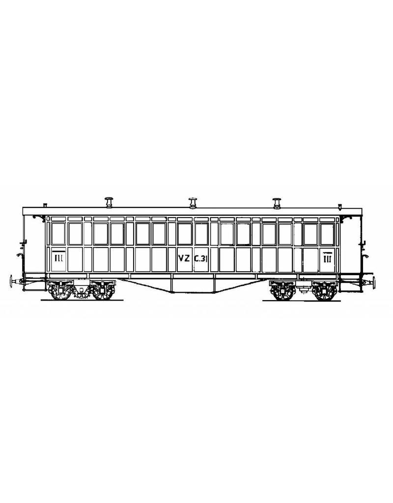 NVM 20.35.006 personenrijtuig C4 30-34 Brig-Visp-Zermatt-Bahn voor spoor 0