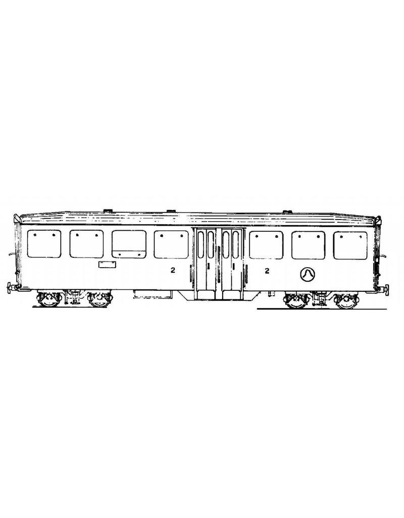 NVM 20.35.007 lichtmetaalrijtuig A 2261-67 Brig-Visp-Zermatt-Bahn voor spoor H0