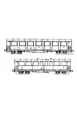 NVM 20.35.008 personenrijtuigen AB 2221, 2222, 2224 Brig-Visp-Zermatt Bahn voor spoor H0