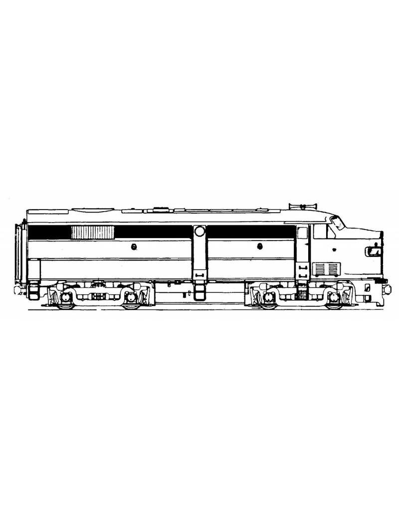 NVM 20.52.001 ALCO DE-sneltreinlocomotief voor spoor H0