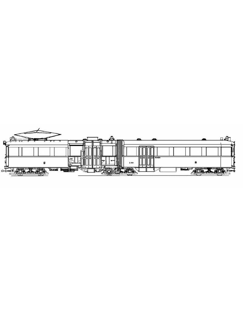 NVM 20.73.002 geleed rijtuig NZHVM A601-620 voor spoor I