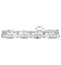 NVM 20.73.003 dubbelgeleed tramrijtuig GVBA 635-652 voor spoor 0