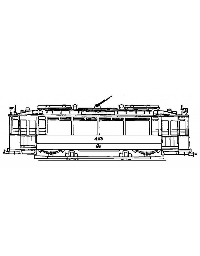 """NVM 20.73.004 motorrijtuig GVBA 396-445 - (""""Blauwe wagens"""")"""