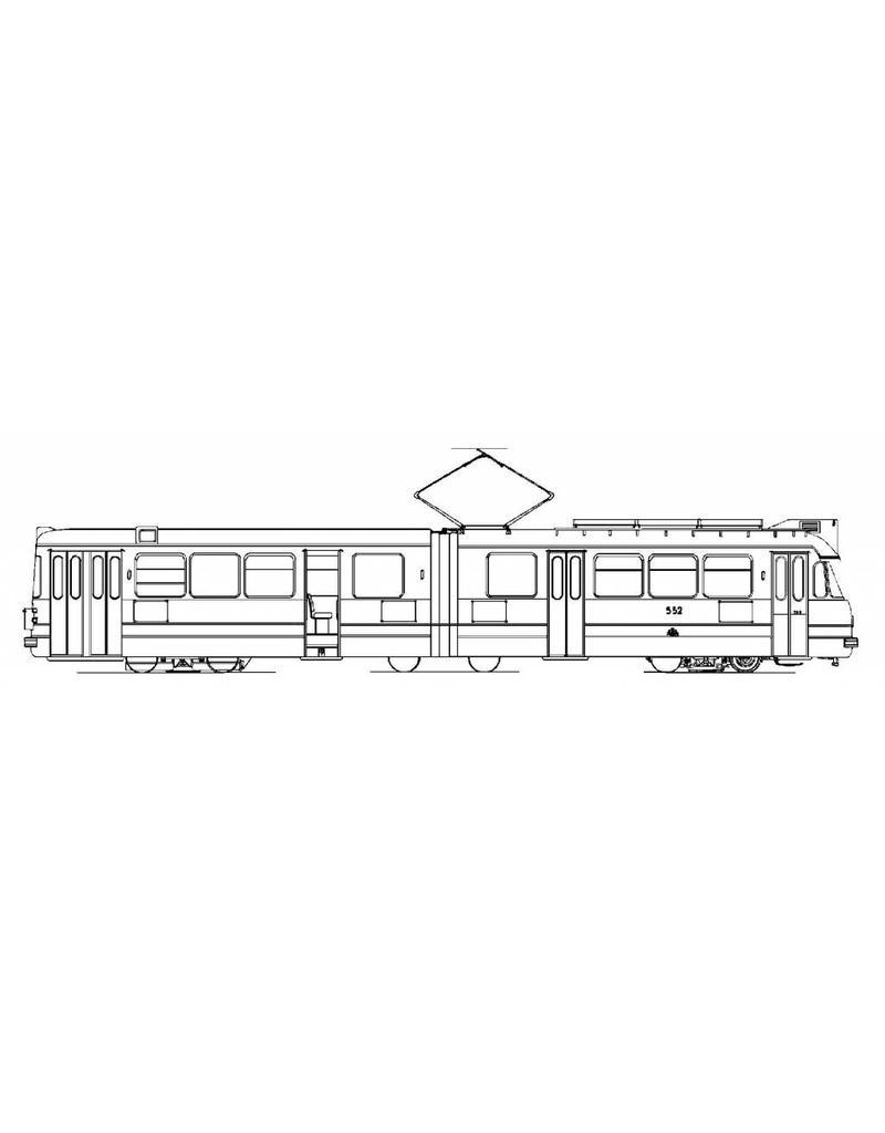 NVM 20.73.007 geleed tramrijtuig GVBA 551-587 voor spoor 0