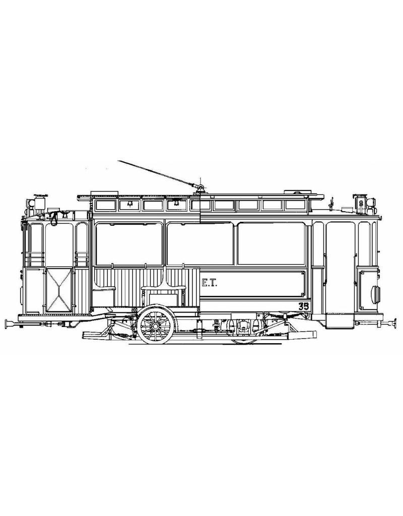 NVM 20.73.027 materieel NZHVM A35-36 (ex ENET), aanh.rijtuig B88 (ex TNHT 20)