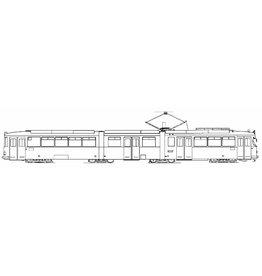 NVM 20.73.038 dubbel-geleedmotorrijtuig RET 301(Werkspoor/Duewag, 1964/65)