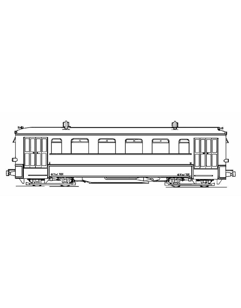 NVM 20.74.002 benzine motorrijtuig GTW 101-102 voor spoor H0e