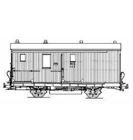 NVM 20.75.001 trambagagerijtuig met postafdeling. NCS LLD1-5; Zuiderzeetramweg voor spoor I