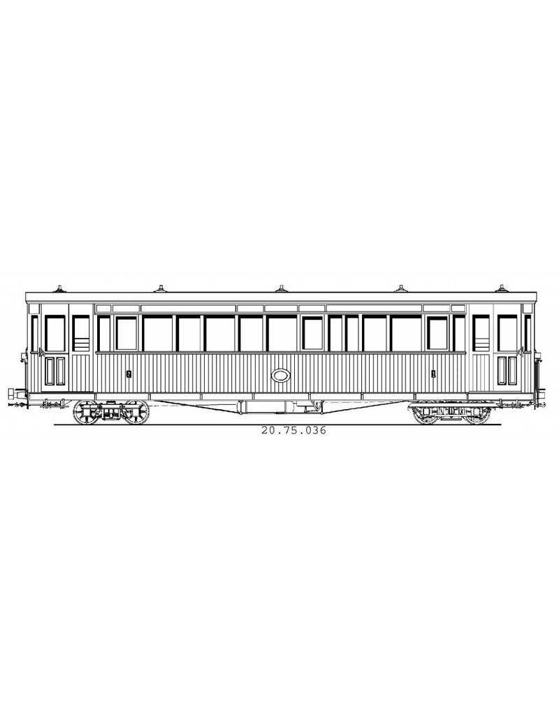 NVM 20.75.036 Tramweg Zutphen-Emmerik, gemengd personenrijtuig AB 7-9, voorheen B1,3,4 (Pennock, 1902)