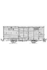 NVM 20.76.006 gesloten goederenwagen NCS/SS/NS 6-10; Zuiderzeetramweg; voor spoor 0
