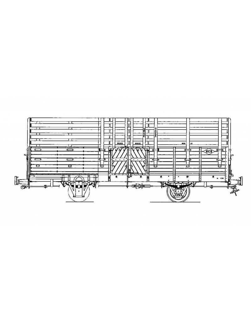 NVM 20.76.007 open goederenwagen NCS/SS/NS 21-25; Zuiderzeetramweg; voor spoor 0