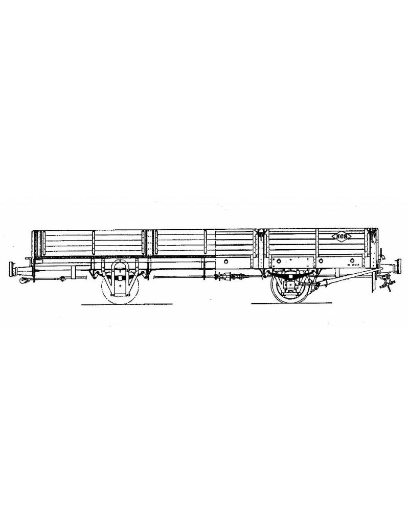 NVM 20.76.008 open goederenwagen met kleppen No 41-45 NCS/SS/NS; Zuiderzeetramweg; voor spoor 0