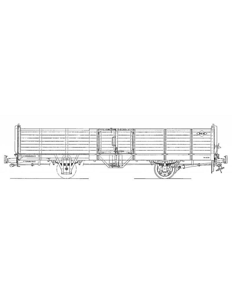 NVM 20.76.009 open goederenwagen NCS/SS/NS 46-50; Zuiderzeetramweg; voor spoor 0
