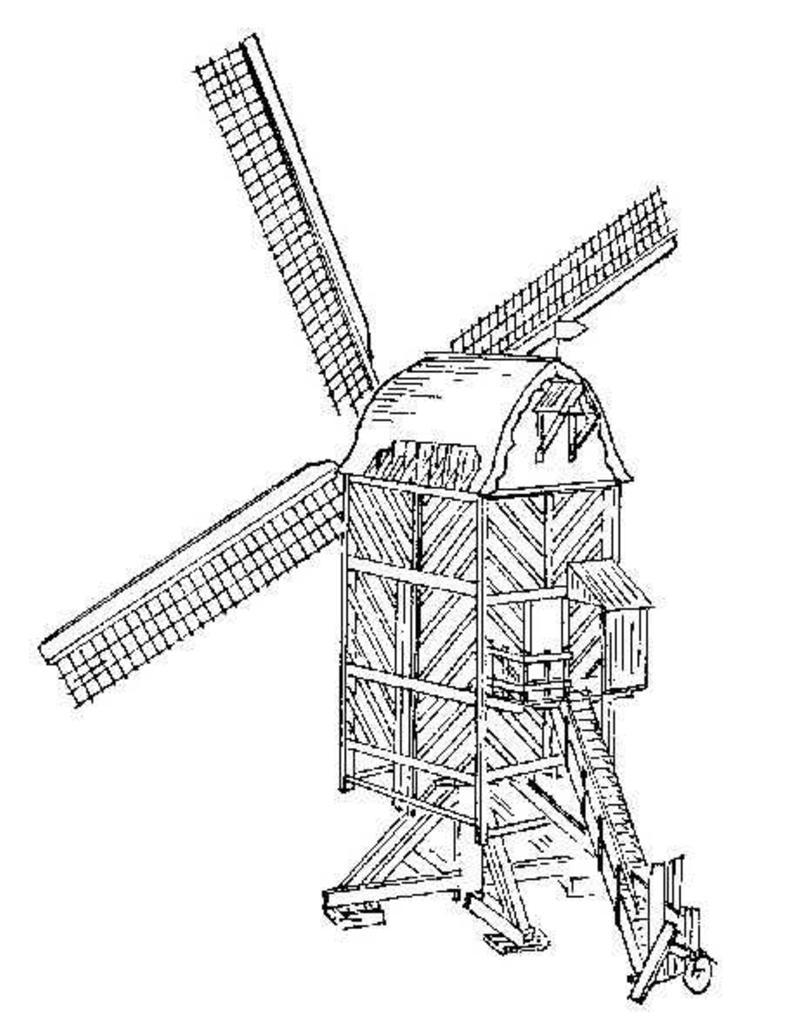 NVM 30.06.013 standaardmolen (opengewerkt model)