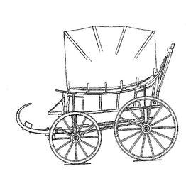 NVM 40.30.038 speelwagen uit Wieringen van 1851