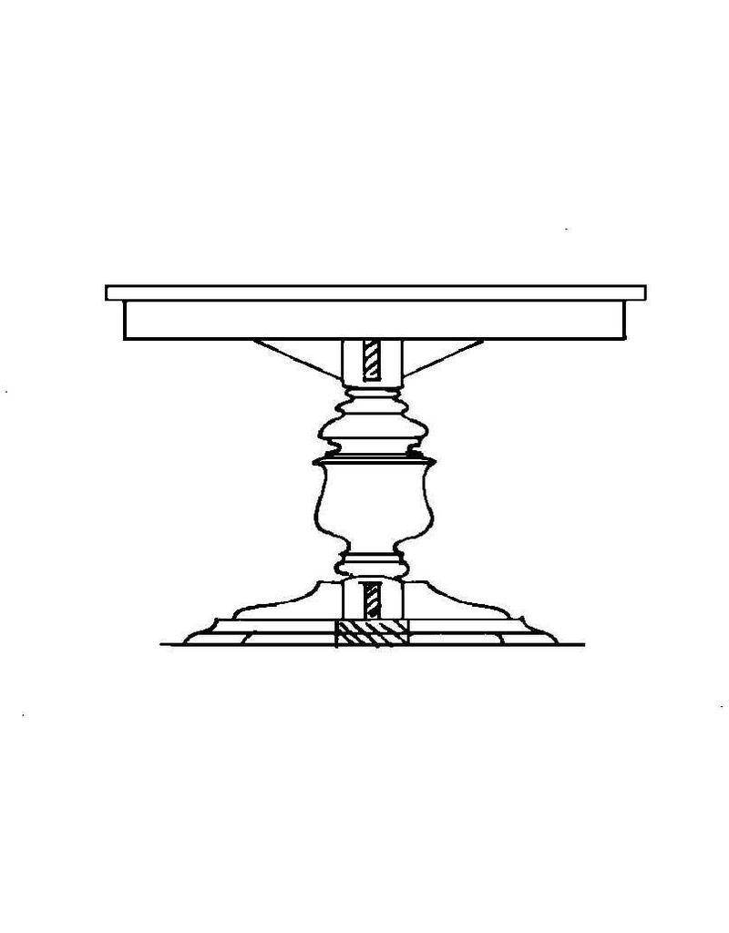 NVM 40.33.002 ronde tafel op 1 poot