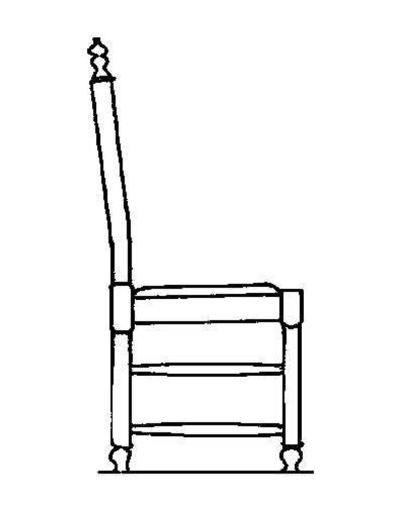 NVM 40.33.005 stoel met ronde poten en knoppen