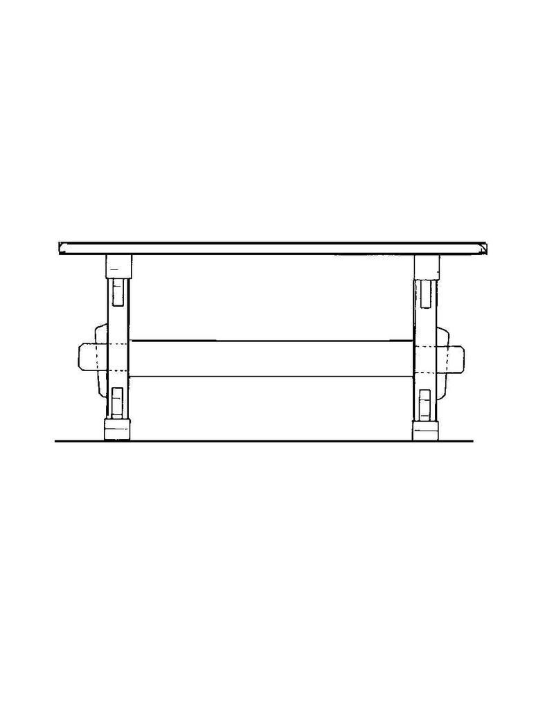 NVM 40.33.011 eiken rechthoekige tafel
