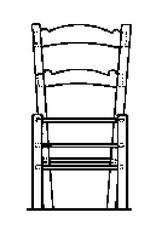 NVM 40.33.020 stoel met biezen zitting