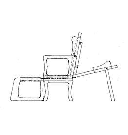 NVM 40.33.041 Huzaren zit/ligstoel