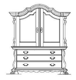 NVM 40.34.007 gebogen kabinet, (ca 1885)