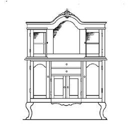 NVM 40.34.009 dressoir met opzet en gebogen deuren
