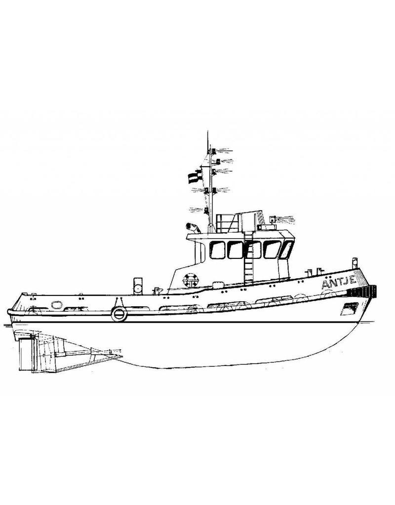 "NVM 16.14.001 sleepboot ms ""Antje"" (1983) (Damen Stantug 1900)"