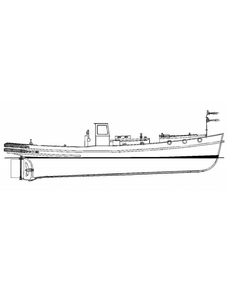 "NVM 16.14.018 motorsleepboot Stadsreiniging Amsterdam van 16 m.(""Amsterdammertje"") (1959)"