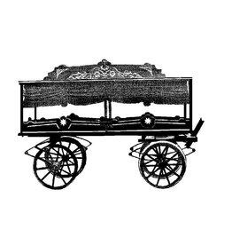 NVM 40.38.040 handgetrokken lijkwagen uit Aalsmeer