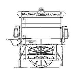 """NVM 40.39.044 petroleumhand/hondekar """"De Automaat"""""""