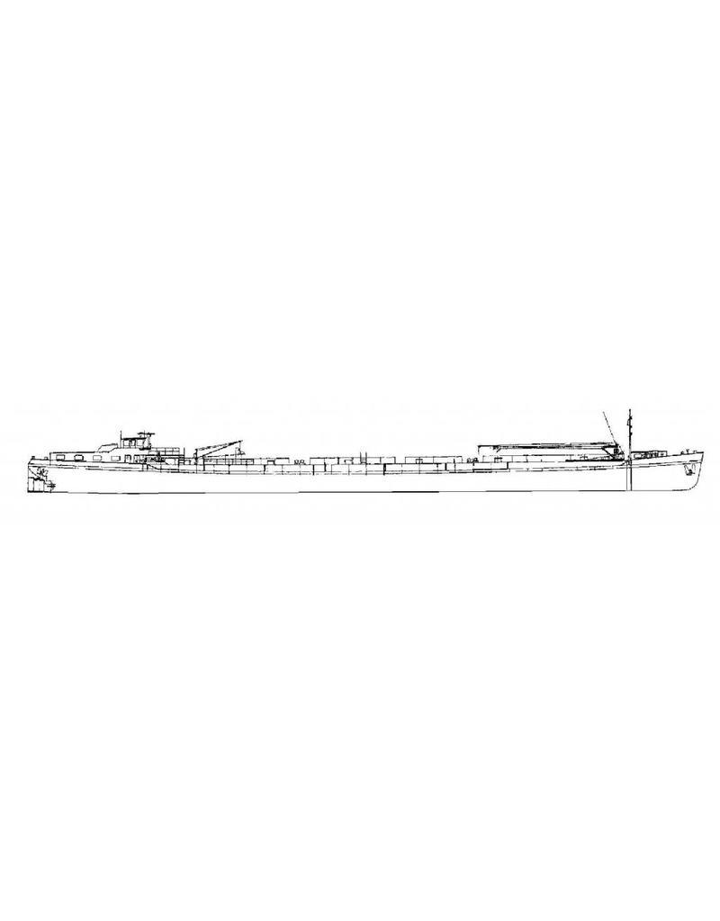 """NVM 16.15.001 binnenvaarttanker ms """"Vel"""" (1970) - Verenigde Tankrederij, Rotterdam"""