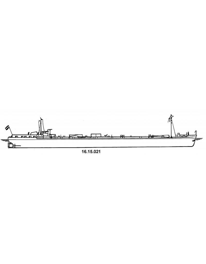NVM 16.15.021 tankschip ms Europa 2127 ton (1970) - Fongers-Schiedam en Korsten-Dordrecht