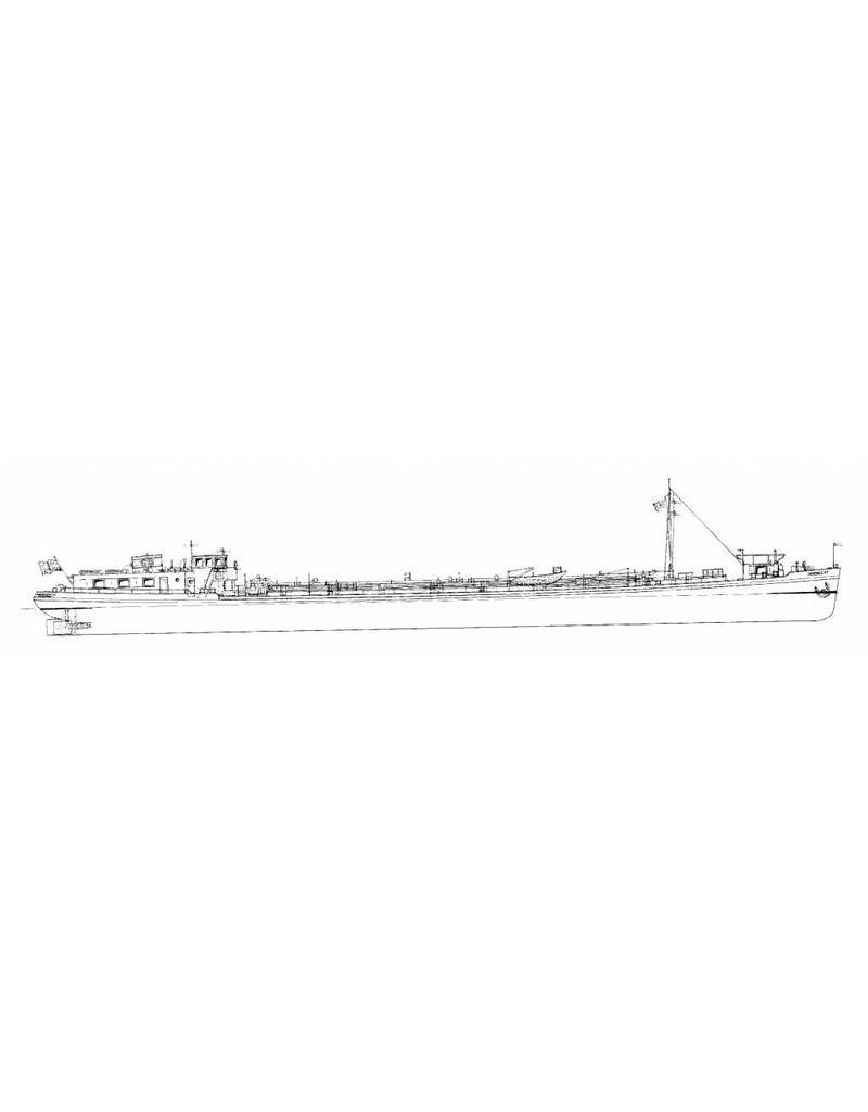 NVM 16.15.027 tankschip ms Dordrecht 12 (1956) - Gebr. Broere; 1981 Clarie; 1986 Maria I; 1990 Esther