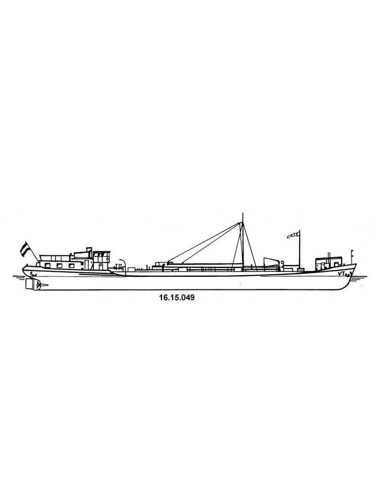 NVM 16.15.049 tankschip ms Veldhoven, Vollenhoven 500 ton (1954) - VT