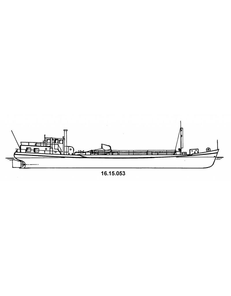 NVM 16.15.053 tankschip ms Johanna 170 ton (1955) met losse tank