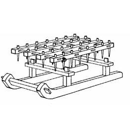 NVM 40.40.019 houten slee met eg