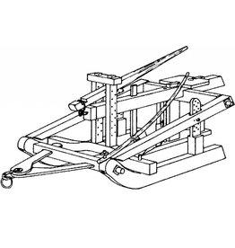 NVM 40.40.020 houten slee met plaggenploeg