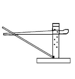 NVM 40.41.014 wagenwip, hout met stalen strip