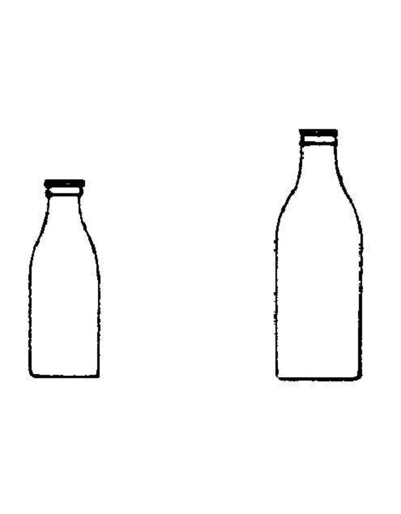 NVM 40.41.017 glazen melkflessen