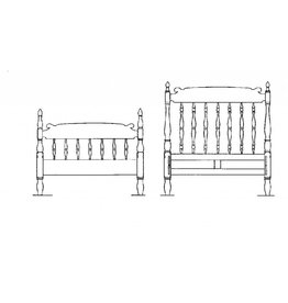 NVM 45.04.002 bed in colonial stijl